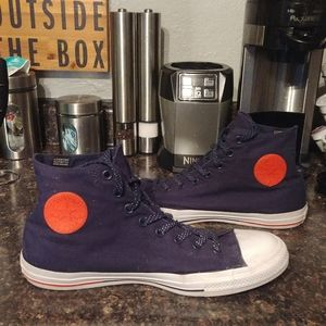 Converse blue hi-top sneakers 12